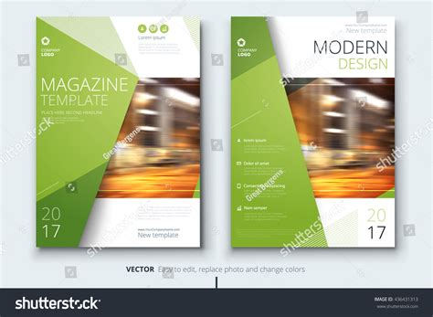 magazine template corporate business design brochure stock