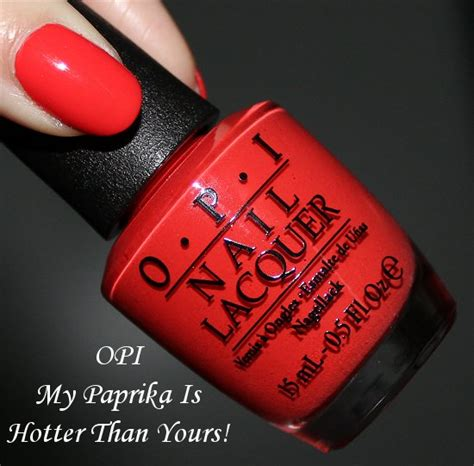 My Paprika Is Hotter Than Yours opi my paprika is hotter than yours swatches review swatch and learn