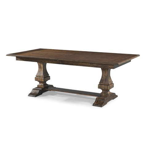 trestle table with leaves trisha s trestle table with 18 inch leaf by trisha