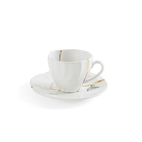 Coffee Cup With Saucer kintsugi coffee cup with saucer seletti