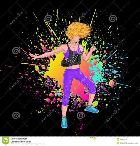 background zumba blonde dancing zumba stock vector image of fitness