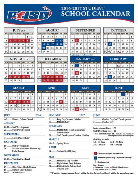 School District Calendar 2016 School Year Calendar 2016 2017 District Calendar