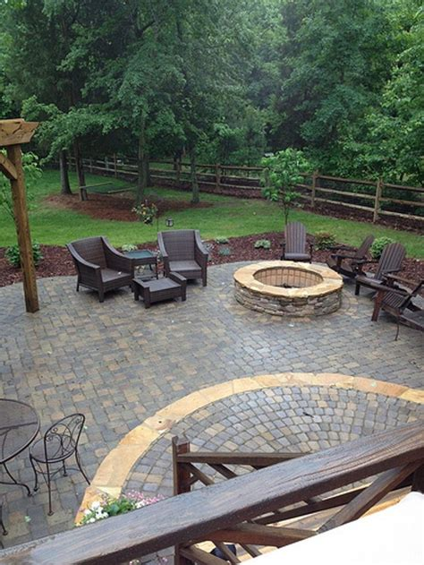 29 Best Images About Fence On Pinterest Stone Columns Paver Patio With Pit