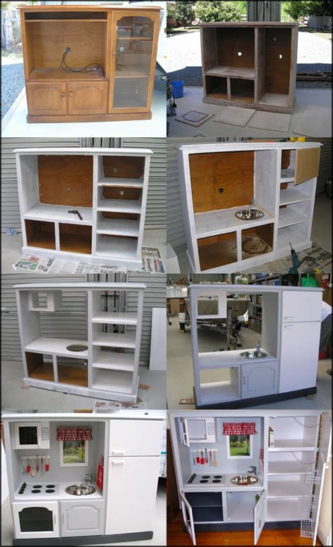 Homemade Play Kitchen Ideas by Wonderful Diy Play Kitchen From Tv Cabinets