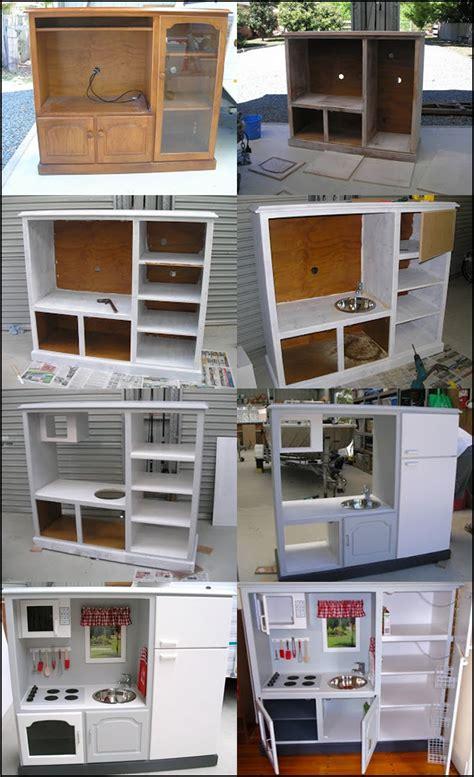 wonderful diy play kitchen  tv cabinets