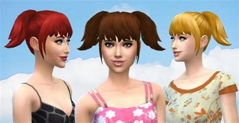 pigtails hair sims 4 high pigtails at my stuff 187 sims 4 updates