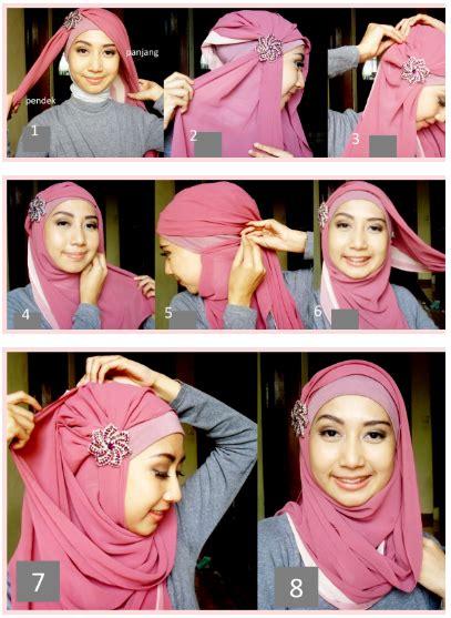 tutorial jilbab utk pesta mitha chandra putra cara memakai jilbab modern untuk