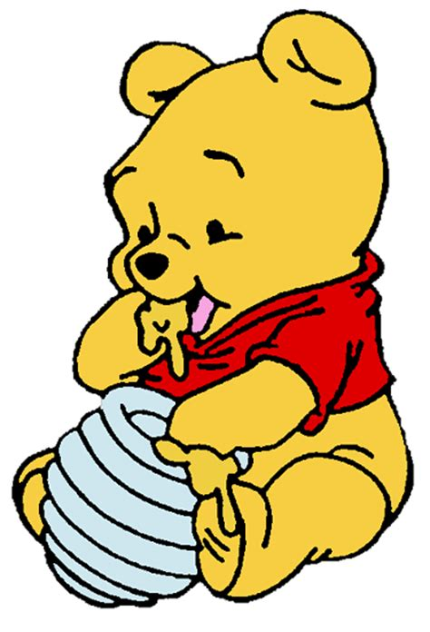 Winnie the pooh as a baby eating honey images amp pictures becuo