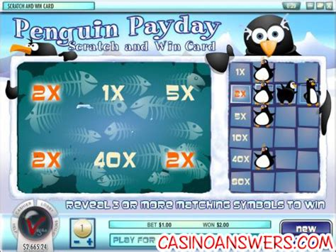 Instant Win Scratch Cards - penguin payday scratch card guide review casino answers
