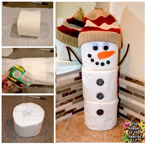 Snowman Toilet Paper Roll Craft - toilet paper snowman craft