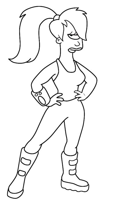 how to draw leela from futurama draw central