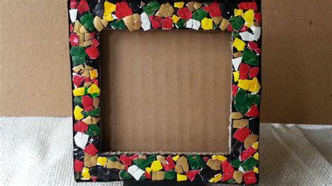 cornici mosaico decora una cornice con un mosaico di uova fai da te casa