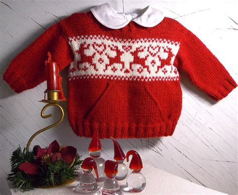 knitting pattern christmas jumper reindeer christmas sweater with pocket and reindeers knitting