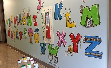 alphabet wall mural alphabet daycare mural free sky studios professional mural painting sign painting and