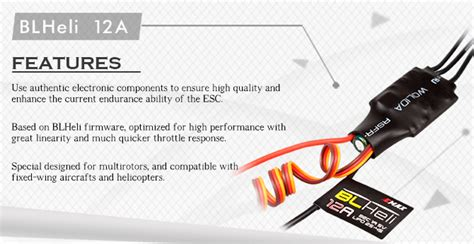 Emax Blheli 12a Brushless Esc emax blheli 12a 2 4s brushless esc for fpv rc multicopters ia0016 esc for multicopters