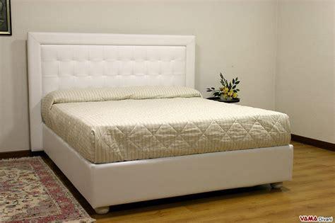 letto contenitore in pelle letto moderno bianco in pelle con testiera a quadri