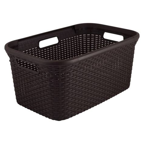 laundry big w curver 45l plastic rectangular laundry basket brown target