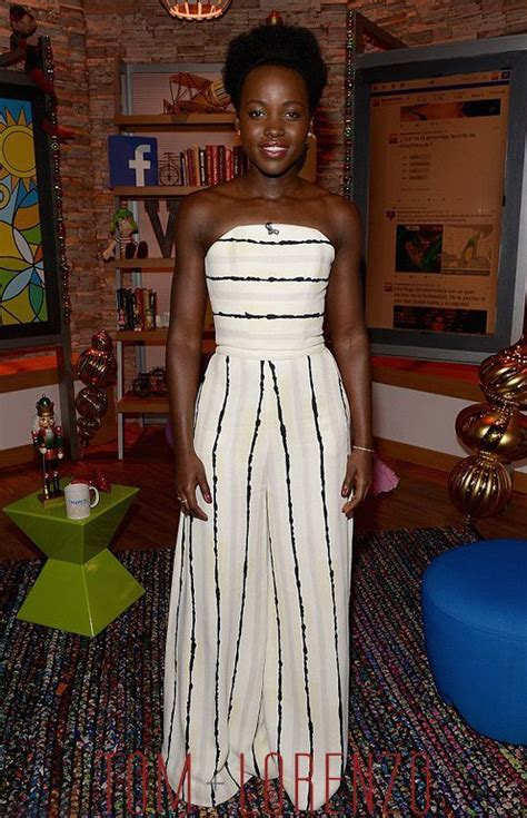 Pattern Lupita Dress lupita ny ongo in christian siriano striped jumpsuit from the 2016 collection styl e