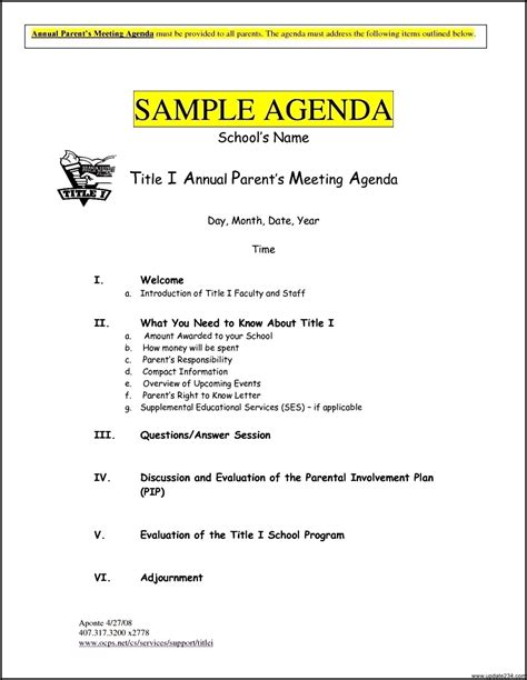 free meeting agenda templates template update234 com