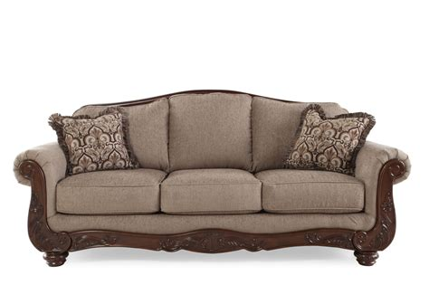 ashley couches sofas ashley cecilyn cocoa sofa mathis brothers furniture