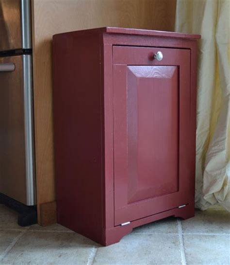 Trash Can Cabinet White Build A Wood Tilt Out Trash Or Recycling Cabinet Free And Easy Diy Project And
