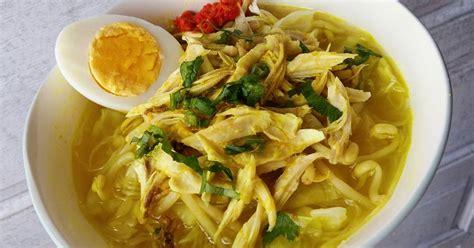membuat soto ayam kuah santan resep praktis cara membuat soto ayam kuah santan