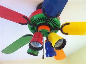 Colored Ceiling Fans Yellow Ceiling Fans And Kid On