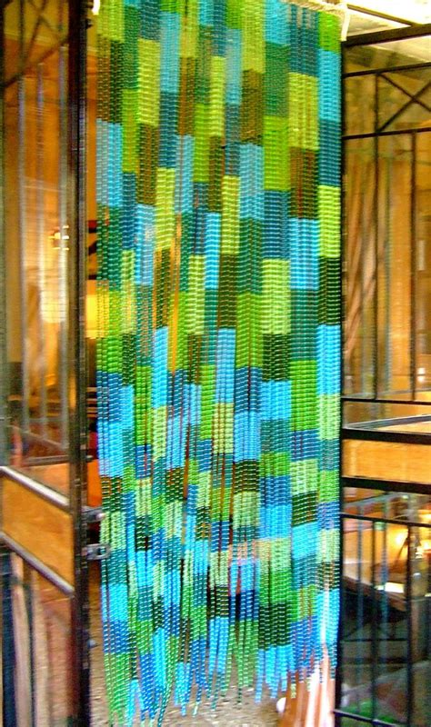glass bead curtains bluegreen mosaic factory glass beaded curtain ready