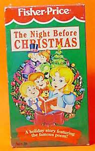 no number quot the night before christmas quot vhs