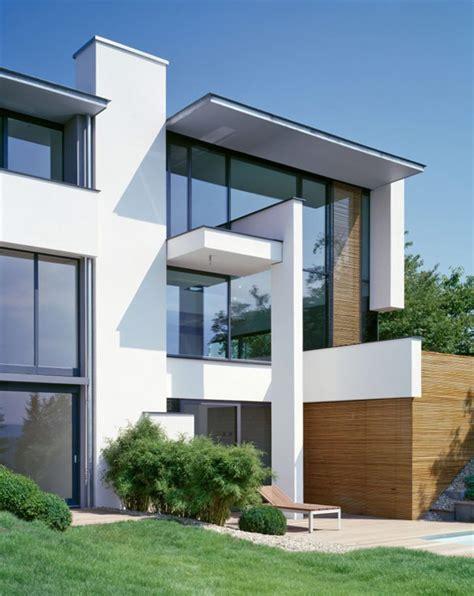 modern villa two modern villas hidden by a single facade miki 1 house