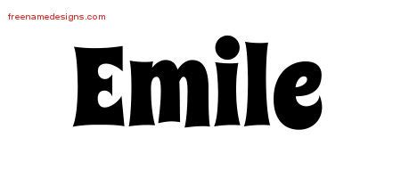 Tattoo Ideas For The Name Emile | emile archives free name designs