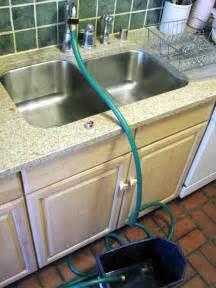 attach  garden hose   kitchen faucet garden hose