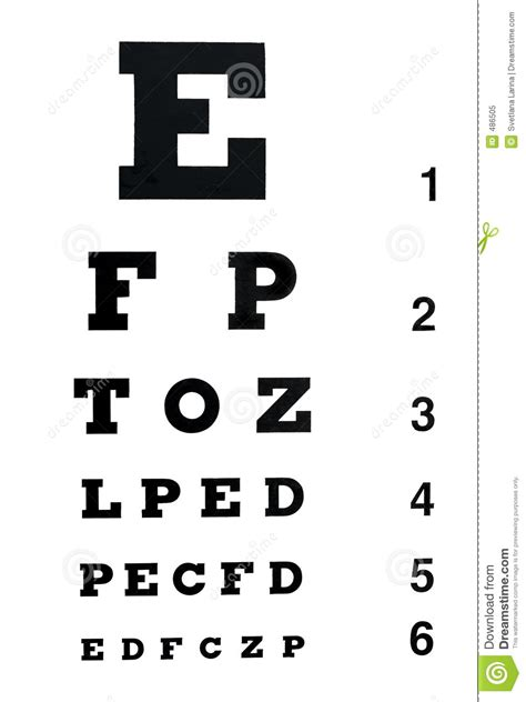 printable eye chart numbers 5 best images of number chart eye exam test eye exam