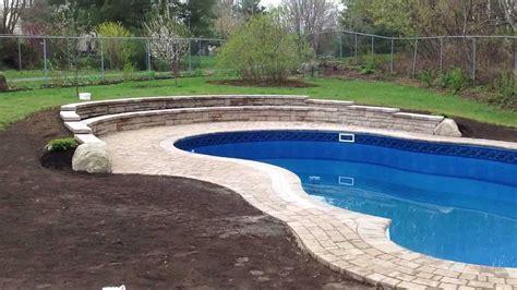 Inground Pool Designs by Jonathan Robert Landscape Design Backyard Pool With