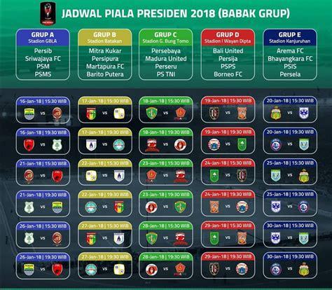 www jadwal jadwal lengkap piala presiden jadwal com maret 2018