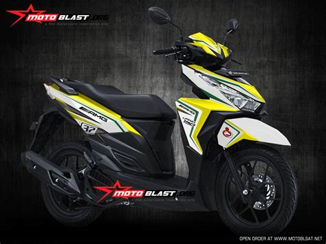 Stiker Soul Gt 125 2016 2017 Putih Hitam graphic kit modif striping honda vario 150 black white