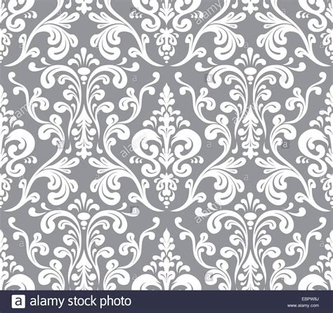 pattern grey and white vector seamless elegant damask pattern grey and white