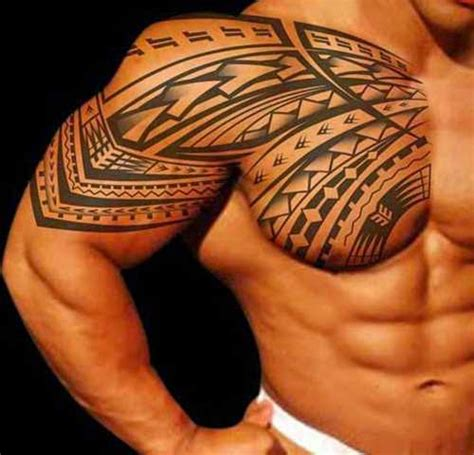 arm and chest tattoo arm and chest tribal design shortlist