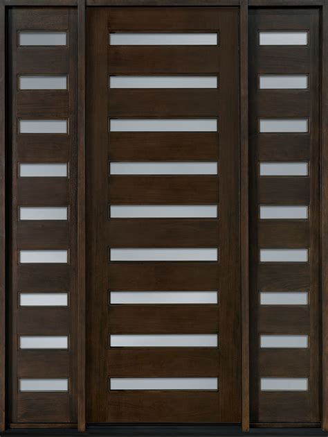 Modern Wood Doors Exterior Superb Contemporary Front Doors With Solid Wood Entrance Door And Horizontal Glass