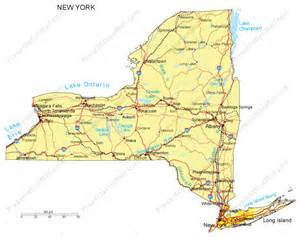 Map Of New York State With Major Cities by New York Map Major Cities Roads Railroads Waterways