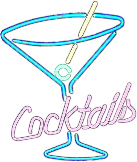 martini clipart no background fichier cocktails neon sign on white matte png wikisbec17