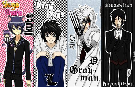 printable anime bookmarks free anime bookmarks set 1 by kuro nisshoku on deviantart
