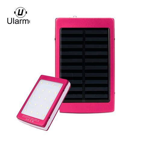 Power Bank Solar Cell 20000mah ularmo solar power bank 20000mah led dual usb portable solar battery charger power bank for cell