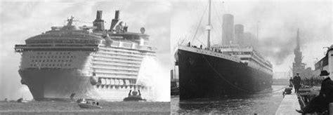 biggest boat in the world compared to titanic titanic vs oasis of the seas malcolm oliver s waterworld