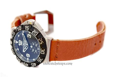 Tag Heuer F1 Silver Brown Leather 1 metta black leather for tag heuer formula 1 eieiwatchstraps