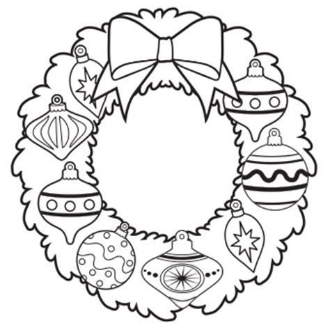 wreath bow coloring page christmas coloring pages