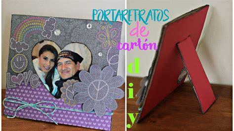 como hacer portaretratos de carton como hacer un portaretratos de carton regalo original para