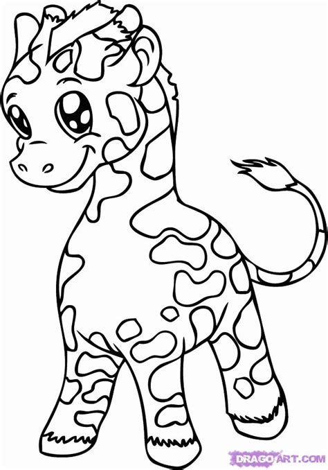 giraffe coloring pages pdf how to draw a baby giraffe step by step safari animals