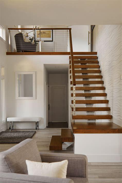 degree floating stair remodel
