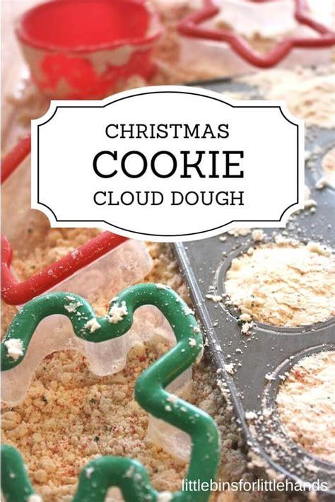 christmas dough recipe cloud dough cookie sensory play recipe